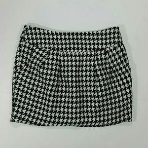 Forever 21 Skirt Houndstooth Black White Medium